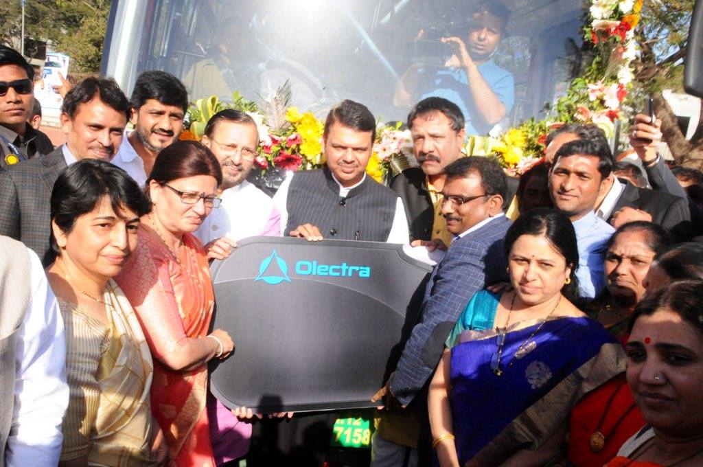 Inauguration of the Electric Buses At PMPML